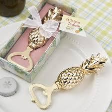 gold pineapple bottle openers for wedding favors