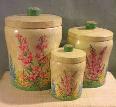 ebay kitchen canisters 567 best vintage kitchen canister sets images on