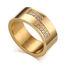 aliexpress buy vnox 2016 new wedding rings for women aliexpress buy vnox 8mm gold color wedding ring for women