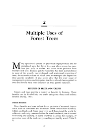 2 uses of forest trees forest trees the national