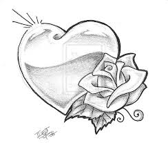 easy drawings roses hearts gallery clip art library