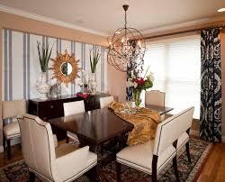 Laminate Brick Flooring Black Cushion Chairs Dining Room Accent Wall Stencil Whiite Brick