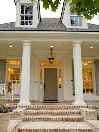 a neutral palette year round front porches porch and porch steps