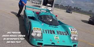 listen to the v8 howl porsche 962 on track at daytona