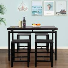bar stool table and chairs pub table sets you ll love wayfair