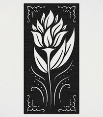 decorative flower free railling panel decorative flower dxf files cut ready cnc