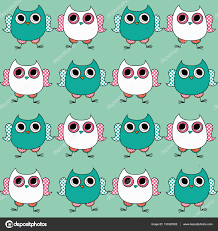 Seamless Decorative Vector Background With Owls Doodle Print