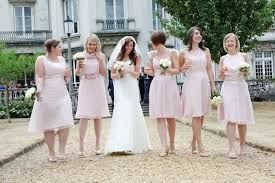 blush pink bridesmaid dresses how to style mismatched bridesmaid s dresses
