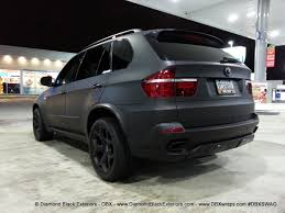 bmw jeep 2009 bmw x5 4 8is wrapped in matte black by dbx diamond black