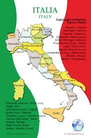 Napoli Map by Poster In Italian Map Of Italy And Its Regions For Classroom