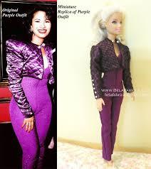 selena quintanilla purple jumpsuit miniature for fashion dolls belafabrica