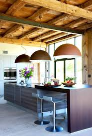 pennsylvania modern barn house conversion cococozy modern kitchen island rustic barn dome pendant lights