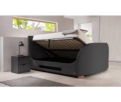 Grey Ottoman Uk by Maddison Curve Ottoman Tv Bed Inc Free Delivery U0026 Installation