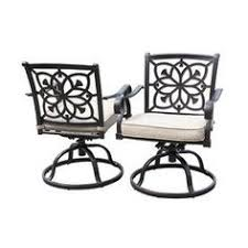 Swivel Patio Dining Chairs Allen Roth Ebervale 2 Count Aged Bronze Aluminum Patio Dining