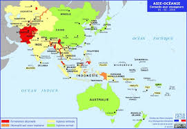 map asie how safe is asia safety tips danger map safearound