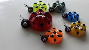 recycled art ideas for kids ladybug u0027s family from plastic bottles