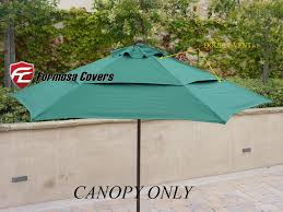 Market Patio Umbrella Vented Replacement Umbrella Canopy For 9ft 6 Ribs Market Patio
