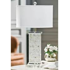 regina andrew mother of pearl square column table lamp