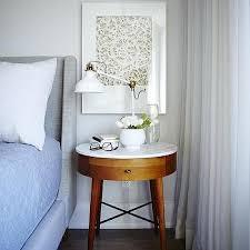 white mid century modern nightstand design ideas