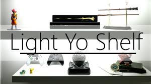 led setup on wall shelf youtube
