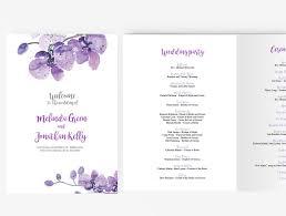 purple wedding programs wedding program booklet diy editable ms word template purple