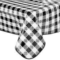 Black And White Table Cloth Black Vinyl Tablecloth Webstaurantstore