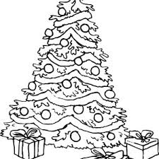 coloring page of christmas tree with presents christmas presents drawing at getdrawings com free for personal