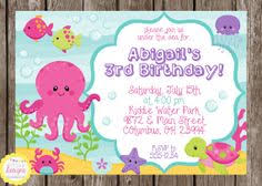 octopus invitations and other ideas birthday party ideas