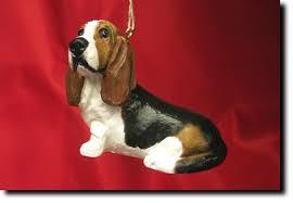 basset hound ornaments decore