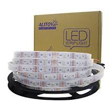 programmable led light strips amazon com alitove 16 4ft ws2813 upgraded ws2812b individually