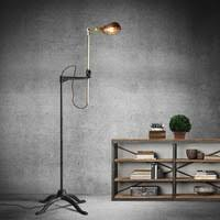 Vintage Retro Black Color Long Arm Fishing Metal Floor Floor Lamp Shop Cheap Floor Lamp From China Floor Lamp Suppliers