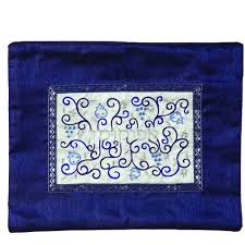 afikomen bag passover afikomen bags blue pomegranates silk applique