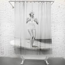 Marilyn Monroe Bathroom by Monroe On The Beach Funny Shower Curtains