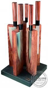 bloc de couteaux de cuisine 5 couteaux de cuisine redwood le bloc magnétique la