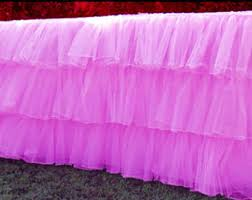 Pink Table Skirt by Tulle Table Skirt Etsy