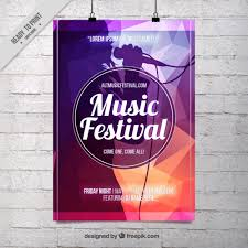 abstract music festival poster template vector free download