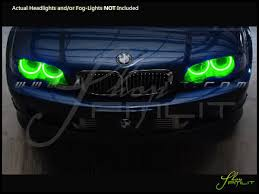 light green bmw 99 06 bmw m3 plasma halo rings headlights bulbs