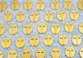 pocket crosses golden pocket crosses for wedding favors