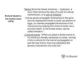 Meme Selfish Gene - презентация на тему russian bear in the mirror of dawkinss theory
