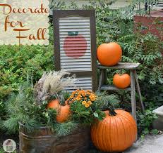 outdoor fall decorations fall outdoor decorating diy painted shutter hoosier