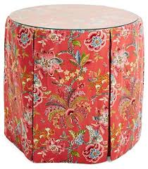 one kings lane table eden round skirted table tropics one kings lane collection