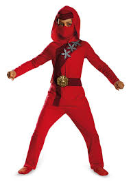 Kids Ninja Halloween Costume Red Fire Ninja Classic Ninjago Legos Kids Boys Costume Kai Ebay