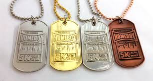 custom dog tag necklace custom dog tags as race medals msh medals