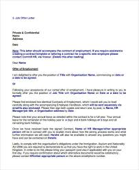 25 job offer letter example free u0026 premium templates