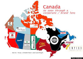 canadian map this is corporate canada in 1 map photo