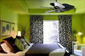 Black And Green Curtains Stunning Green Bedroom Walls With Leaf Motive Black Curtain And