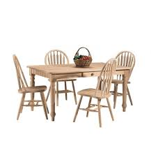 Unfinished Wood Chairs Kitchen Extraordinary Dining Space Idea Modern Look Farmhouse