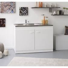 meuble cuisine evier integre meuble sous evier avec evier integre achat vente pas cher