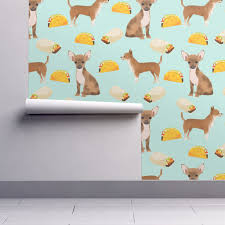 chihuahua food taco dog dogs pet dog cute chihuahua fabric with
