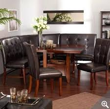 breakfast nook table with bench leather breakfast nook kitchen dining room leather wood corner
